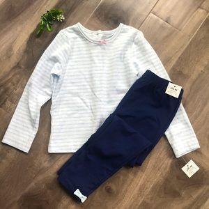 🔥4 for $25🔥 LITTLE ME striped blue & navy Set 4T